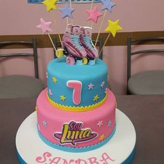 Imagen relacionada Cumpleaños Soy Luna Ideas, Soy Luna Cake, Roller Skate Cake, Son Luna, Cata, Fondant, Frozen, Barbie, Birthday Cake