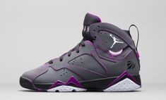 "The Air Jordan 7 GS ""Fuchsia"" is on it's way to retailers, paying homage to the 23rd Anniversary of the AJ7."