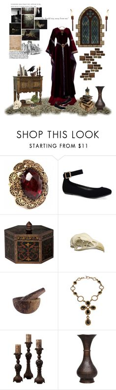 """""""Scorpio:Medieval Times"""" by thisworldistoobeautiful1139 ❤ liked on Polyvore featuring Fantasy Jewelry Box, Bamboo, Lucca Couture, Vintage Collection, Home Decorators Collection and Rosenthal"""