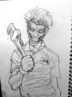 Artwork of PATRICK BROWN - Joker 52 (work in progress) - This is a commission I'm doing for a good friend of mine, I'm about to start on the digital work