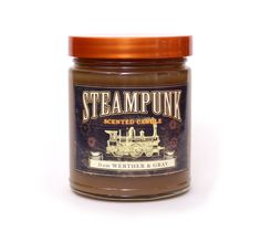 Steampunk, where Neo-Victorian meets science fiction, is a culture of DIY, cosplay, tinkering and alternate history. Our candle tries to honor the concept by featuring a fragrance that is both industr