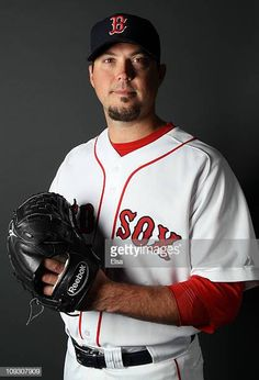f987ce291 Josh Beckett of the Boston Red Sox poses for a portrait during the Boston  Red Sox