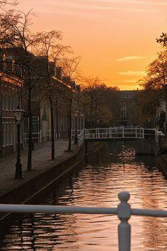 Sunset in the city -Leiden,NL