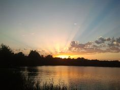 Neuried im Sonnenuntergang