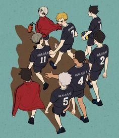 Haikyuu Funny, Haikyuu Ships, Haikyuu Fanart, Haikyuu Anime, Haikyuu Volleyball, Volleyball Anime, Kuroo, Kenma, Kagehina