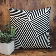 Geometric | Aztec | Stripes | Black | White | Pillow | Pillowcase | Pillow Cover | Accent Pillow | Throw Pillow | Decorative | Home Decor |