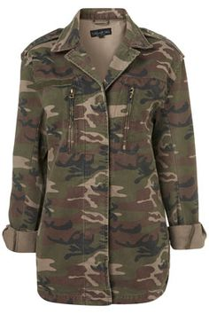 Tall Camouflage Army Jacket from TopShop.... you will be mine