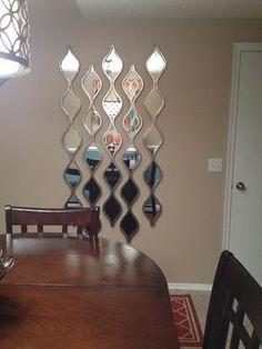 Silver teardrop panel mirror - Kirklands - $50 each panel