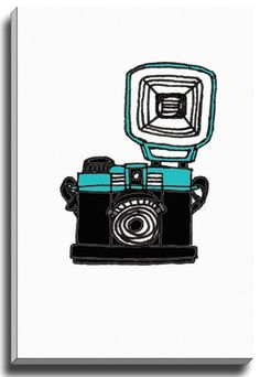 Diana Mini by Coco Draws Graphic Art on Wrapped Canvas