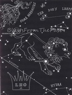 Vintage LEO Zodiac print from 1940s Perfect by BlastsFromThePast