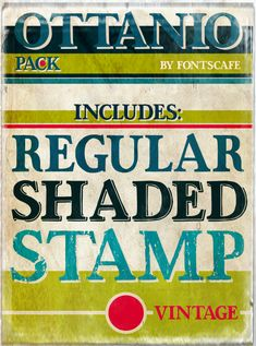 Ottanio Font Pack includes Ottanio Regular, Ottanio Shaded and Ottanio Stamp #fontscafe #vintage #vintagetypography #oldschool #vintagefonts