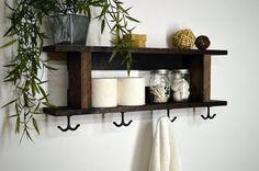 Rustic Modern 2 Tier Bathroom Shelf Towel by RusticModernDecor