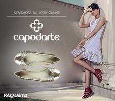 A #Capodarte é uma marca feita para mulheres exigentes, e agora está em nossa loja online! #Shoes #Fashion