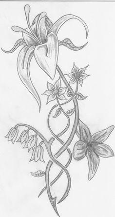 Tekening bloem