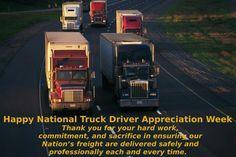 Thank a truck driver