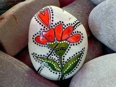 All Things Grow With Love/ Painted Rock /Sandi P Foundas