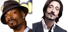 Snoop Dogg and Adrian Brody.. the head tilt, the nose, the facial hair especially..