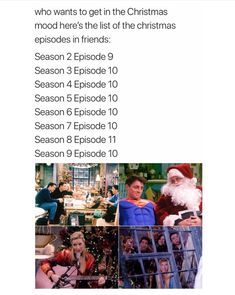 Trendy Funny Friends Episodes Tv Shows 41 Ideas Friends Tv Show, Serie Friends, Friends Moments, Friends Show Quotes, Friends Christmas Episode, Christmas Tv Shows, Friends Christmas Quotes, Christmas Ideas, Funniest Friends Episodes