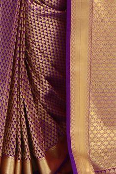 Purple Kanjivaram Silk Saree | Indofash Ethnic
