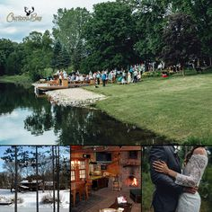 Caribou Bay Retreat and Event Center offers year-round accommodations and venue planning in a luxury-rustic setting near Coloma, WI. Contact the owner direct for seasonal pricing and group activities in the area! #bookdirect #wisconsinwedding #itscabintime