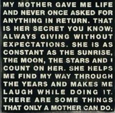 Only a mother can do
