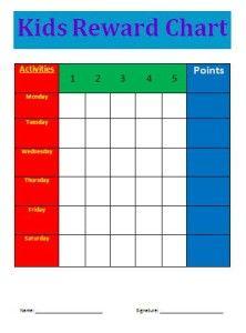 reward chart template word