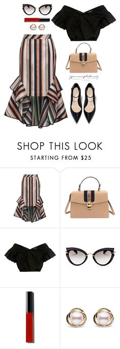 """""""!!"""" by yexyka ❤ liked on Polyvore featuring Theo, Gucci, Rachel Comey, Miu Miu, Bobbi Brown Cosmetics and Trilogy"""