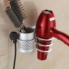 Multi-function Bathroom Wall Mounted Hair Dryer Comb Rack Space Aluminum Shelf Storage Organizer Hairdryer Holder Spiral Stand //Price: $31.98 & FREE Shipping //     #hairextension #style #beauty #woman #love