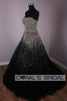 black and white ball gown | luxurious glitter, black and white ball gown | Marine Corps Birthday ...