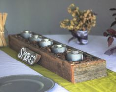 smores cooking boxes from wooden pallets  | Barn Lumber box for SMORES bar, flo wers, candles, escort cards ...