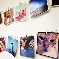 Instagram Wall Art - Clothes Pins Line Dark Room