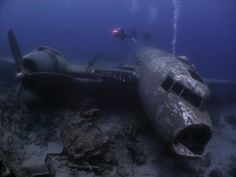 International travel insurance that includes active and adventure sports like diving WW2 wrecks free of charge - check out http://www.clicktravelcover.com/Plane wreck from WWII