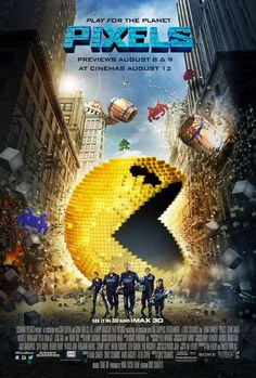 2015. When aliens misinterpret video feeds of classic arcade games as a declaration of war, they attack the Earth in the form of the video games. Stars: Adam Sandler, Kevin James, Michelle Monaghan.