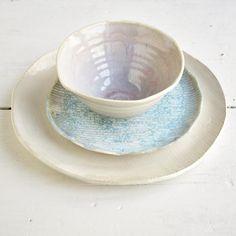 Lee Wolfe Pottery — Moonshadow dinnerware set of 3