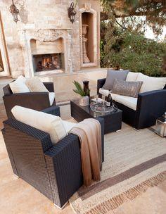 Carlo 4 Piece Deep Seating Group With Cushions