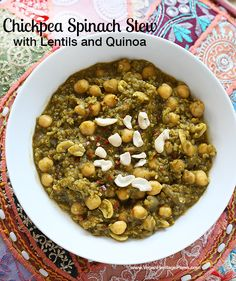 Chickpea Spinach Stew from Vegan Richa's Indian Kitchen by Richa Hingle