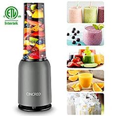 Updated 2019 Version Professional Personal Countertop Blender for Milkshake, Frozen Fruit Vegetables Drinks, Smoothie, Ice, Small Mini Portable Single Food Bullet Blenders Processor Shake Mixer Maker with Cup for Home Kitchen Fruit Blender, Smoothie Blender, Blender Recipes, Blender Bullet, Mixer, Portable Food, Smoothie Makers, Perfect Glass, Specialty Appliances
