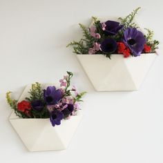 White Hexagon Wall Planter Large | New Arrivals | Homeware - Me and My Trend