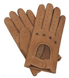 Brympton - Unlined Peccary Leather Driving Gloves - Tan