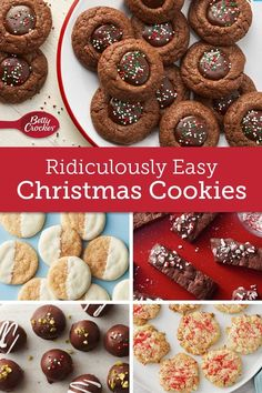 These quick-fix cookies are perfect for potlucks, parties unexpected guest and whatever else the holiday season is throwing at you. Cookie Desserts, Cookie Recipes, Dessert Recipes, Donut Recipes, Christmas Appetizers, Christmas Desserts, Christmas Candy, Christmas Treats, Holiday Baking