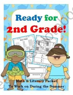 Get Ready for Second Grade! Math, Literacy, & Dolch & Fry Sight Words from First Grade Shashay on TeachersNotebook.com -  (28 pages)  - Get your first graders ready for second grade with this 28-page summer math and literacy packet! Packed with engaging activities to help students review and get ready for the beginning of the year in August, this packet also includes graphic organizers, w