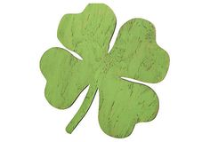 It's the luck of the Irish you'll have with this over-sized shamrock.