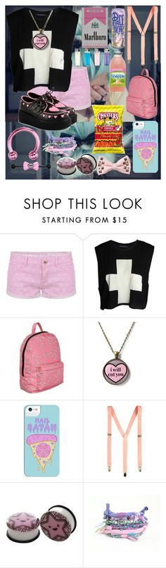 """""""Pastel Goth"""" by xxdemonaxonsxx ❤ liked on Polyvore featuring TALLY WEiJL, Wildfox, HIDE, Chloé, pastelgoth and Jaypurdy"""