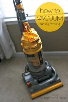 How to Vacuum Carpet ~ the right way! These simple steps will guide you to doing this job right and getting your carpet the cleanest yet!