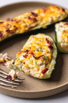 We are here to deliver the goods. In this case, the goods are our low-carb version of jalapeño poppers zucchini boats that are baked and so much healthier!