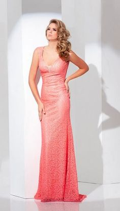 TONY BOWLS Coral Evening Gown (115710) Rent & Buy & Sell Fashion…