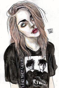 Daev's art. Frances Bean Cobain.