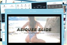 Asiquee - Powerpoint Template by DanialTEMP on Business Presentation, Presentation Templates, Image Theme, Infographic Powerpoint, Best Templates, Your Image, Color Change