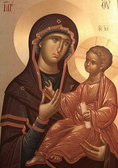 Most Holy Theotokos Hodegetria (by Fr. Ilie Bobaianu)