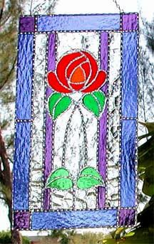 """Victorian Stained Glass Red Rose Suncatcher -Decorative Floral Sun Catcher - Handcrafted Stained Glass Sun Catcher Stained g;ass suncatchers, Glass art, Suncatchers, Stained glass, Art glass, Glass sun catcher, Stained glass panel, Glass suncatchers, Stained glass suncatcher -  - 8"""" x 12"""" by StainedGlassDelight"""